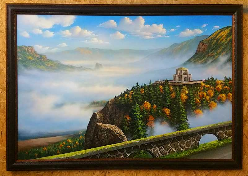 CONTRIBUTED PHOTO - Gary Fenske's 'Vista House' is among the works to be displayed at the Fall Festival of the Arts in Troutdale.