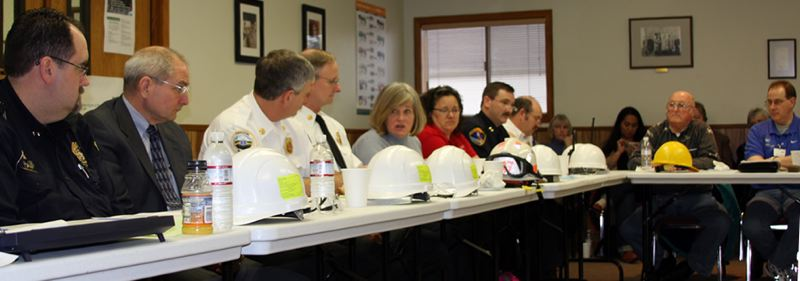 COURTESY OF CEPA - CEPA members converse during a regular monthly meeting in February 2008. After CEPA merges with the Homeland Security and Emergency Management Commission in October, meetings will be held on a quarterly basis.