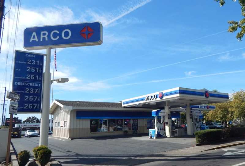 BARBARA SHERMAM - The Arco service station is the original gas station in KIng City, and voters didn't pass a proposed gas tax on the ballot years ago that would have affected the station.