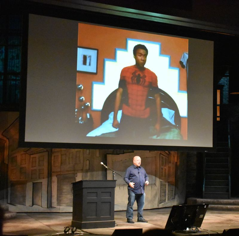 PAMPLIN MEDIA GOUP: JOSEPH GALLIVAN  - Brian Michael Bandis, PSU professor and  writer of the best selling INVINCIBLE IRON MAN, SPIDER-MAN and GUARDIANS OF THE GALAXY, talks about how 'the Internet went nuts' at the introduction of the multiracial SPIDER-MAN comic, Miles Morales.