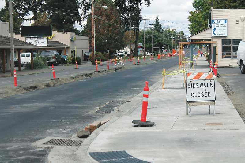 CONNER WILLIAMS / MOLALLA PIONEER  - Where is everybody? The word on the street is that the Molalla Avenue construction project has dragged out much too long already, and Molalla citizens wonder why you rarely see any construction crews actually working on the project.