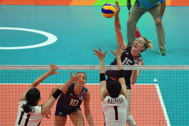 COURTESY: USA VOLLEYBALL - Kim Hill, from Portland Christian High, and the U.S. women's volleyball team, had to settle for bronze at Rio de Janeiro, but she says it was an incredible and unforgettable experience.
