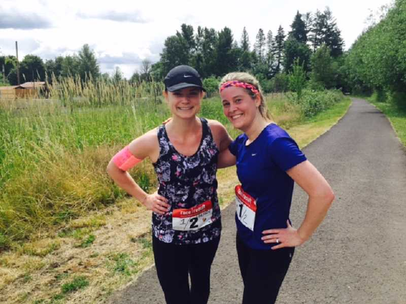 SUBMITTED PHOTO - There's one thing about the Parande that will never change: Race founders Cheri Partain and Julie Strande will always cross the finish line first.