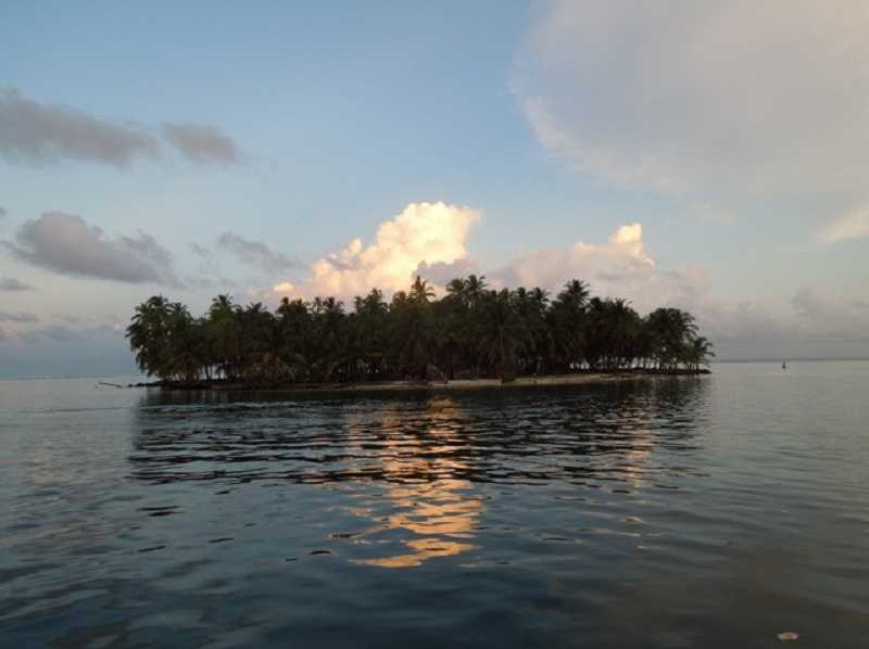 SUBMITTED PHOTO - John Colby snapped this photo of one of the San Blas islands as he cruised on the Caribbean side of Panama.