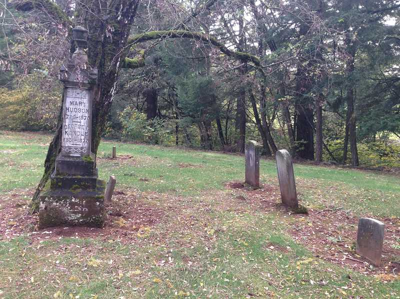 ESTACADA NEWS PHOTO: EMILY LINDSTRAND -  Thomas' family wondered if spirits travelled from the Springwater Cemetary, pictured here, to their home.