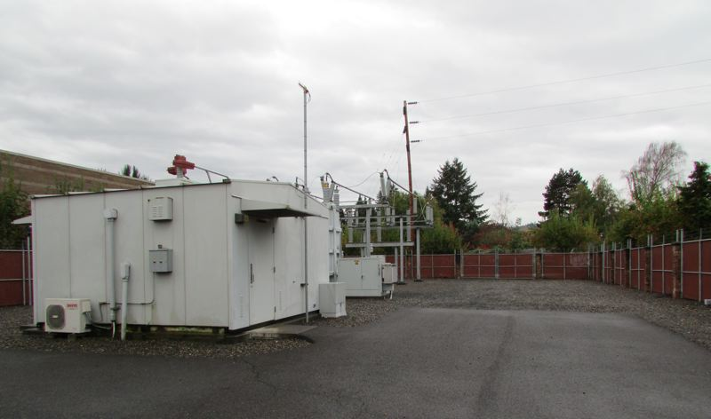 SPOTLIGHT PHOTO: COURTNEY VAUGHN - A substation in the Dutch Canyon area of Scappoose is one of two the city currently relies on for power provided by the Columbia River PUD. The PUD is planning for a third substation in the city.