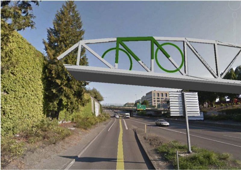SOURCE: CITY OF PORTLAND - The custom steel bridge allows for artistic flair and improved aesthetics.