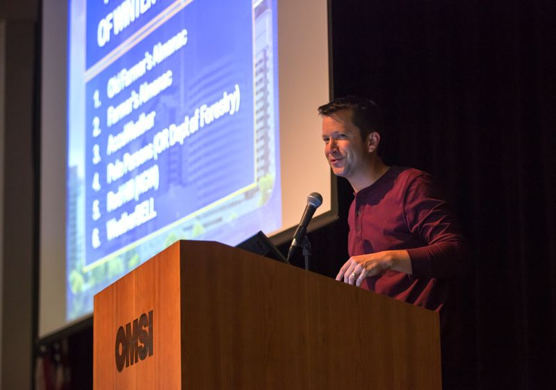 TRIBUNE PHOTO: JONATHAN HOUSE - Several forecasters and weather experts offered a look back at weather in 2015 and gave predictions for 2016 at the 24th Annual Winter Weather Forecast Conference at OMSI.