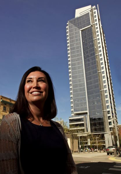 PAMPLIN MEDIA GROUP - Vanessa Sturgeon, CEO of TMT Development, in front of Park Avenue West.