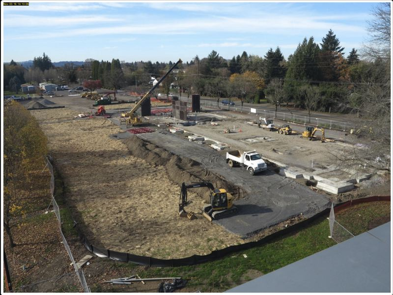 SOURCE: CLACKAMAS COMMUNITY COLLEGE - The demolition and abatement is completed now, and the webcam on the construction site is available here: dwpwebcams.com/ccc/