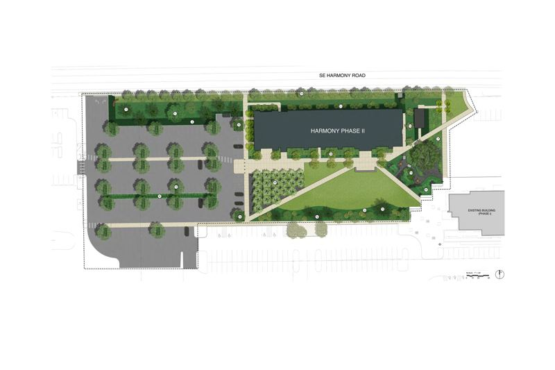 SUBMITTED: HENNEBERY EDDY ARCHITECTS - The south lawn creates a center and sense of place for the campus between its two buildings.