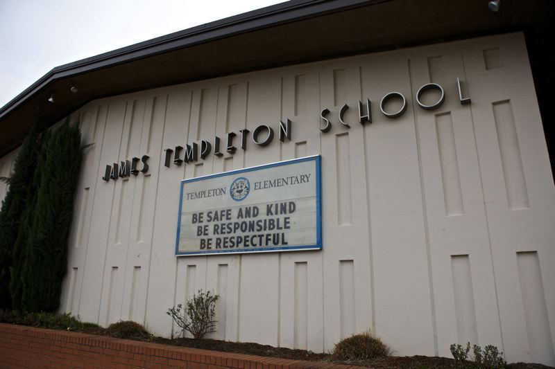FILE - James Templeton Elementary School and other aging Tigard-Tualatin school buildings will be rebuilt with dollars from the bond measure approved Tuesday.