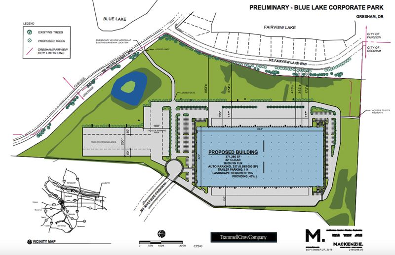 Pamplin media group warehouse plan divides gresham planners contributed graphic a preliminary blueprint from trammell crow calls for a roughly 40 foot malvernweather Choice Image