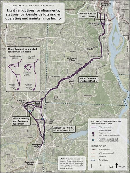 COURTESY OF METRO - Regional planners hope to bring a light rail line to Tigard.