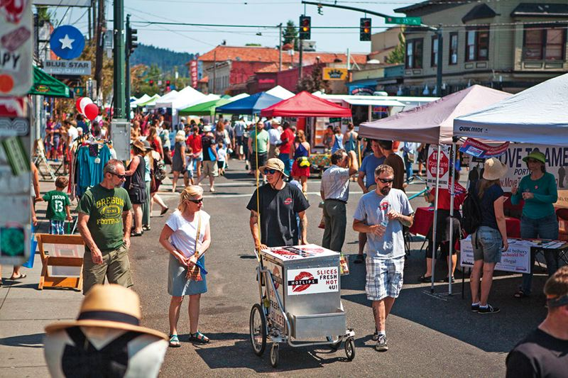 PAMPLIN MEDIA GROUP: ADAM WICKHAM - The Hawthorne Street Fair is an example of what Neighborhood Business Districts spend their grant money on from Venture Portland.