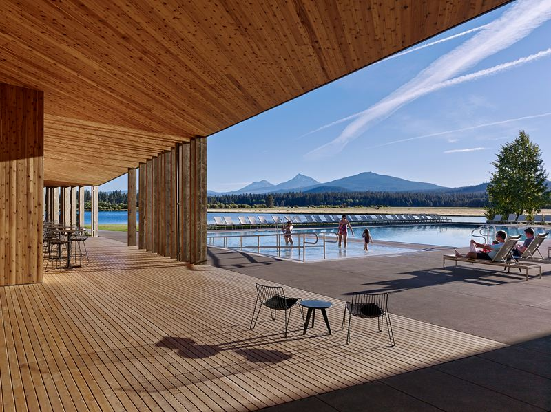 SUBMITTED: AIA - Lakeside at Black Butte Ranch in Central Oregon is a $11.5 million complex, designed by THA Architecture.