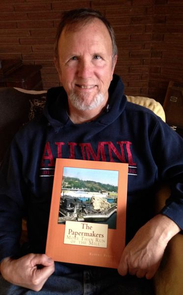 SUBMITTED PHOTO - Author Robert Bresky holds a copy of his newly published book, 'The Papermakers: More Than Run of the Mill,' which details the history of both the West Linn and Oregon City paper mills.