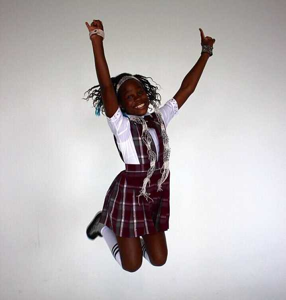 SUBMITTED PHOTO - Bobbi Mackenzie Chambers, 11, stars as Tomika in the Broadway production of School of Rock.