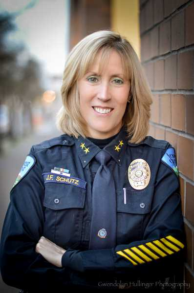 COURTESY PHOTO - Janie Schutz became Forest Grove's top cop in late 2012 but has still told only a few of her staff members about her long-ago rape.