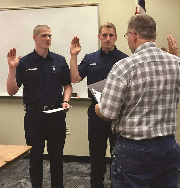 Two new full-time firefighters join the Canby Fire District ranks