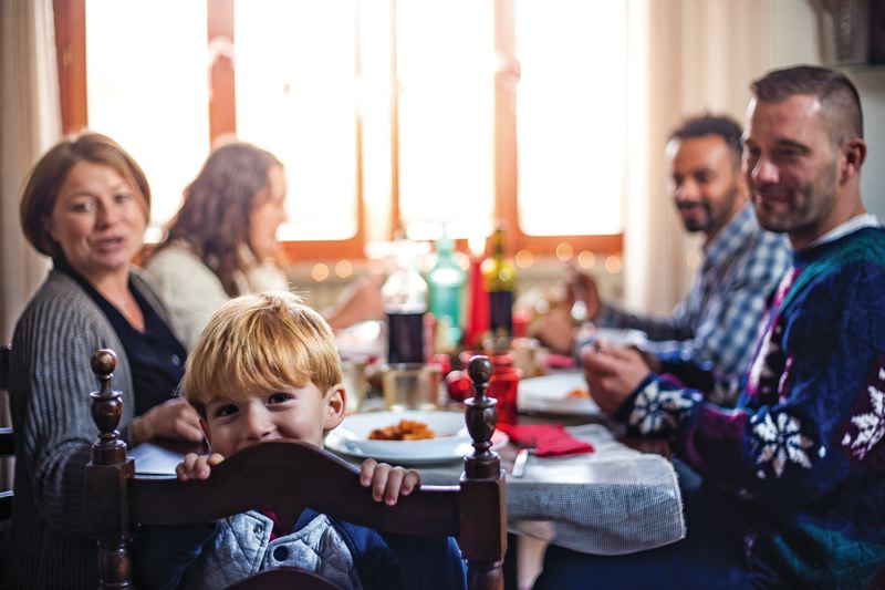 COURTESY: COATES KOKES - Taking time to enjoy a family meal can also lead to eating smaller portions since it takes at least 20 minutes for your brain to tell you youre full.