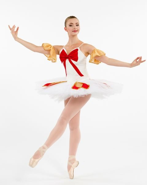 SUBMITTED PHOTOS - Naomi Rux will perform in two ballets this weekend in Portland. In this photo, she is wearing her costume from 'Gift Box.'