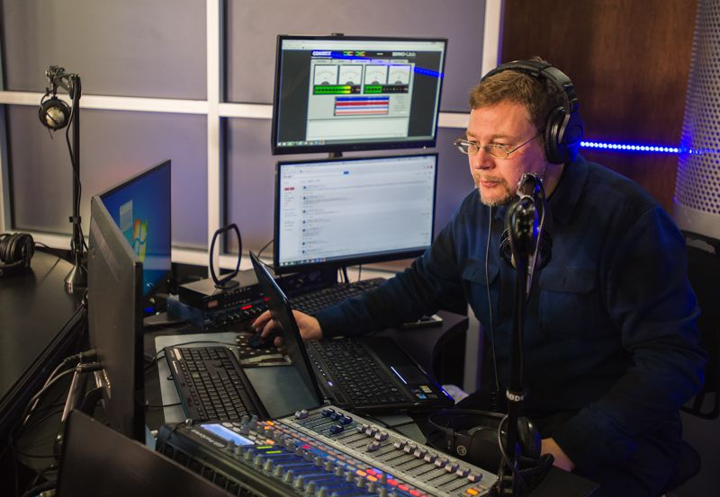 OUTLOOK PHOTO: JOSH KULLA - Slavic Family broadcaster Andrey Nekrasov and his Russian-language radio program reach tens of thousands of east Multnomah County residents. Prior to emigrating to the United States, Nekrasov was a popular radio figure in his native Moscow.
