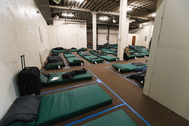 PORTLAND TRIBUNE: JAIME VALDEZ - The new shelter will be open for 6 months and feature 60 beds.