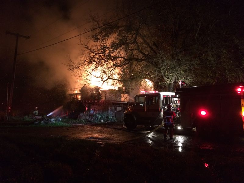Scappoose woman displaced after fire destroys home