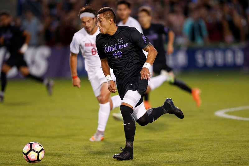 SUBMITTED PHOTO - University of Portland senior and Canby High alumnus Eddie Sanchez led his team to a West Coast Conference title and earned WCC Player of the Year honors.