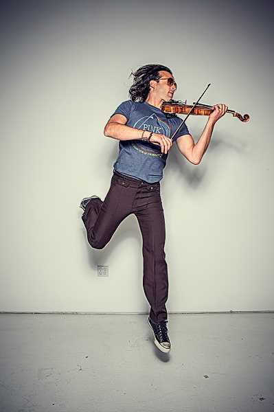 SUBMITTED PHOTO - Dance to some rock-infused holiday tunes with violinist Aaron Meyer on Dec. 2 at Park Academy.