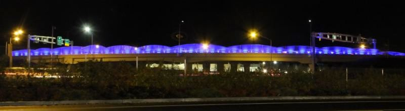 Overpass lights honor fallen officers
