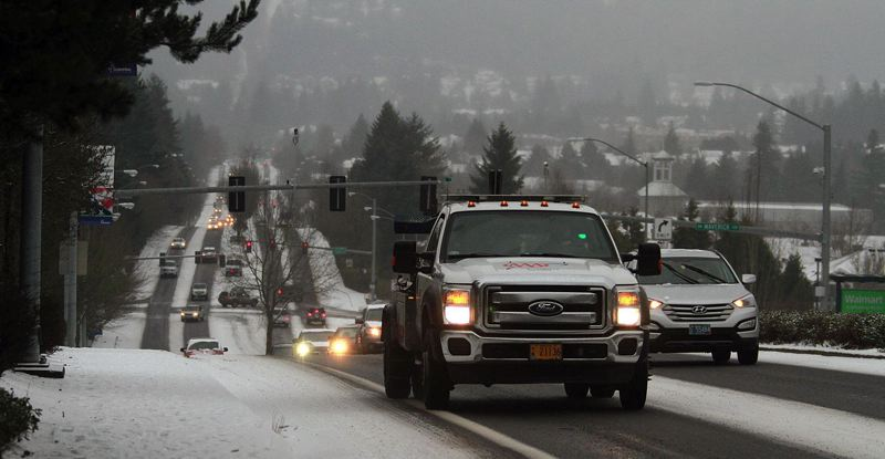 Cold blast adds rain-snow mix to morning commute