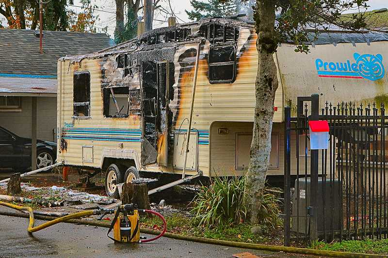 DAVID F. ASHTON - If neighbors hadnt pulled the victim from his burning trailer, he likely would have perished in the blaze, officials say.
