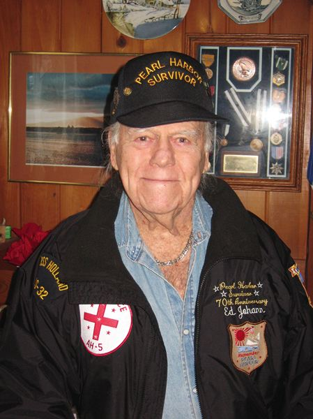 COURTESY: ED JOHANN - Ed Johann, 93, joined the Navy at age 17 and served from 1941-1945. He helped rescue men during the Pearl Harbor attacks and later received a Navy Commendation Medal with valor for his efforts in saving lives. He now lives in Lincoln City.