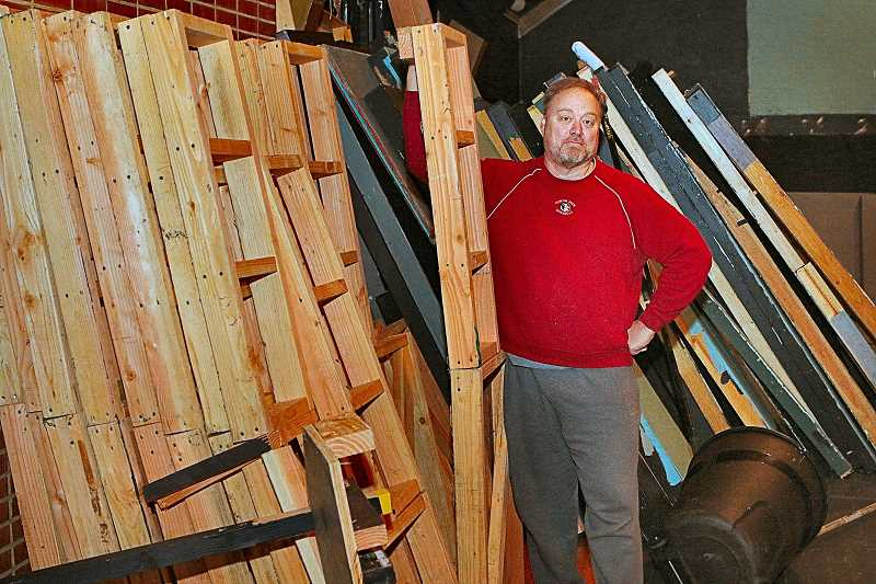 DAVID F. ASHTON - Volunteers helped Post5 Theatre personnel pack up their equipment as they got set to leave their Sellwood location, said Board Member Stefan Feuerherdt.