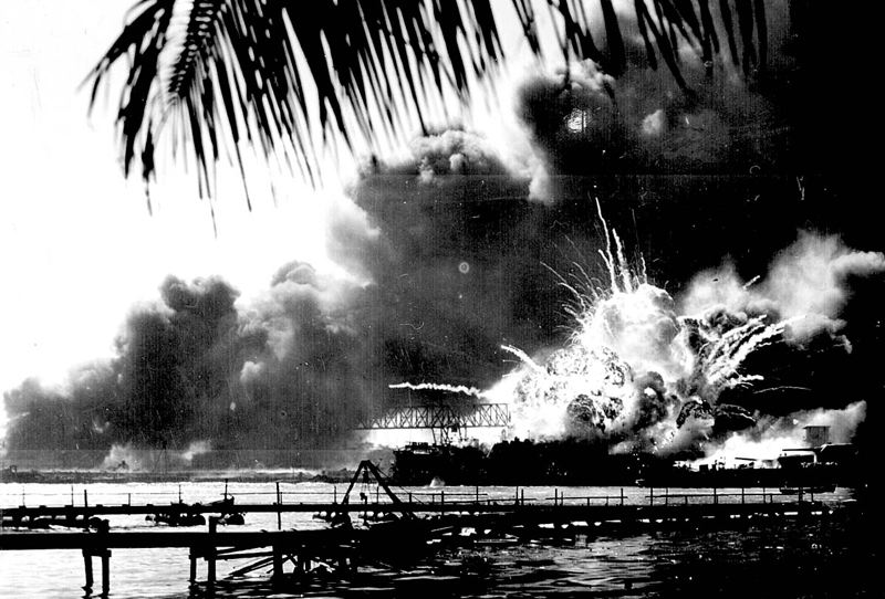 COURTESY PHOTO: NATIONAL ARCHIVES - The USS Shaw was among the vessels hit during the Dec. 7, 1941, attack on Pearl Harbor. Though badly damaged, the Shaw was repaired and used in service during World War II's Pacific campaign.