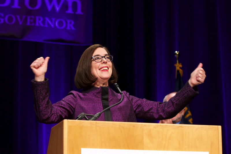 TRIBUNE FILE PHOTO  - Governor Kate Brown challenged businesses to come up with a revenue increase proposal they could accept.