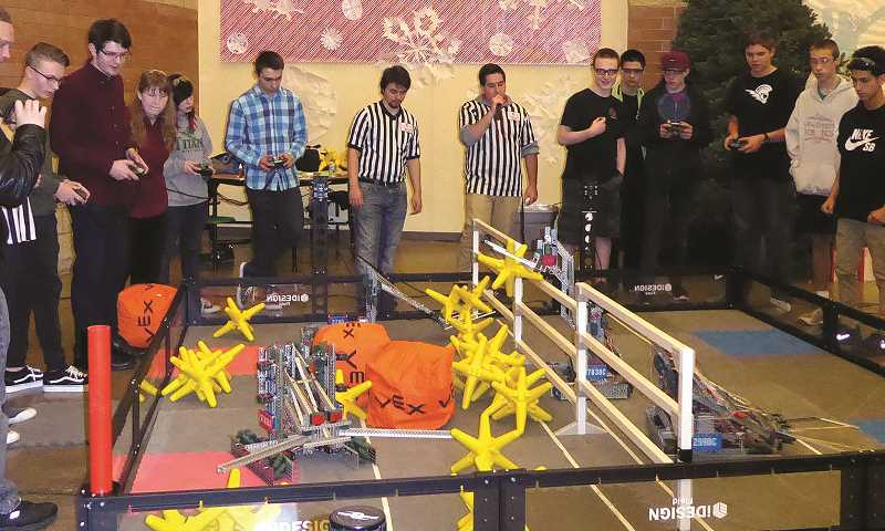 JEFF HAMMOCK - The robot goes through a course at the West Salem competition