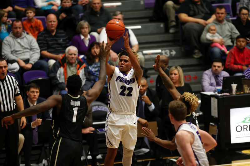 COURTESY: UNIVERSITY OF PORTLAND - Sophomore guard Jazz Johnson's shooting and scoring have helped coach Terry Porter's Pilots start 5-3.