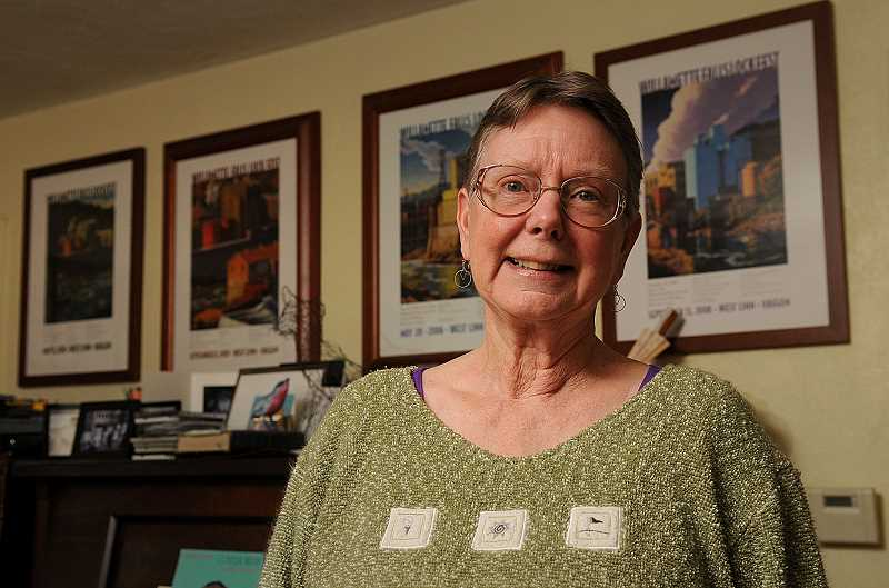 TIDINGS PHOTO: VERN UYETAKE - Sandy Carter has been a passionate advocate on behalf of the Willamette Falls Locks for more than a decade.