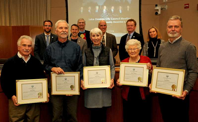Lake Oswego honors  five volunteers as Unsung Heroes of 2016