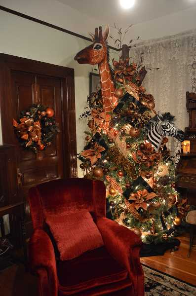 Watts House holiday decor is one-of-a-kind antique artistry