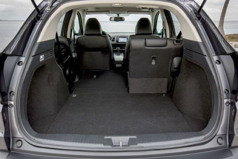 AMERICAN HONDA MOTOR COMPANY - Cargo space in the 2017 Honda HR-V is impressive with one or both of the rear seats folded down.
