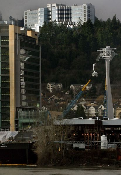 FILE - There won't be another aerial tramway included in the Southwest Corridor project after all. A mechanized connection between a planned MAX station and the Portland Community College Sylvania campus has been dropped from study.