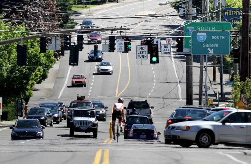 FILE - It remains to be determined whether and where a planned MAX line would run along Barbur Boulevard or Interstate 5 in Southwest Portland, but a transition between a Barbur and I-5 alignment at the busy 'Crossroads' where they intersect with Capitol Highway has been ruled out.