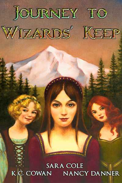 Cover art for 'Journey to Wizards' Keep,' a novel co-written by three Wilson alums and best friends starting in the late 1970s.