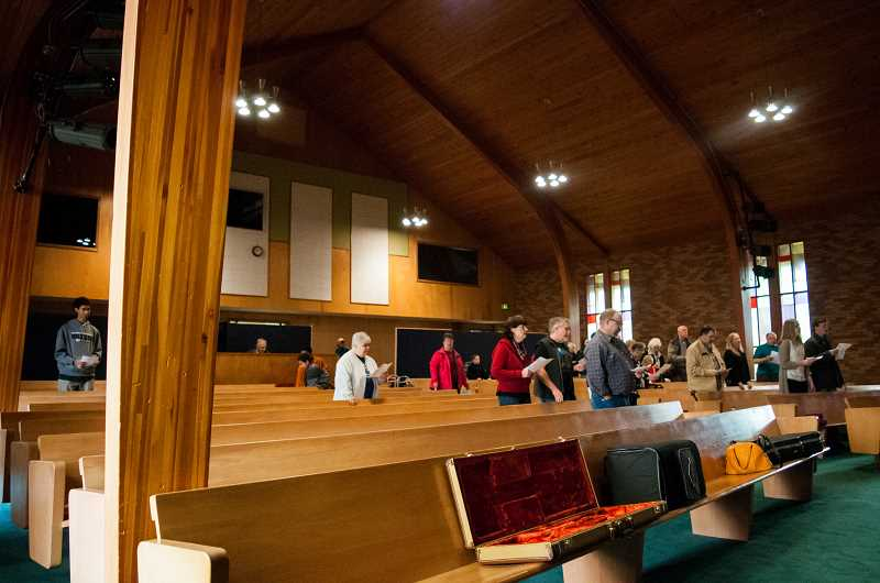 NEWS-TIMES PHOTO: TANNER BOYLE - First Baptist Church had 400 members 20 years ago but has gradually declined as members age.
