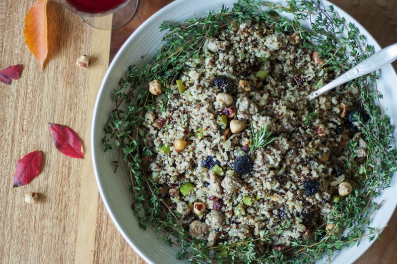 COURTESY: EATWITHZEST.COM - Wild Rice & Quinoa Stuffing