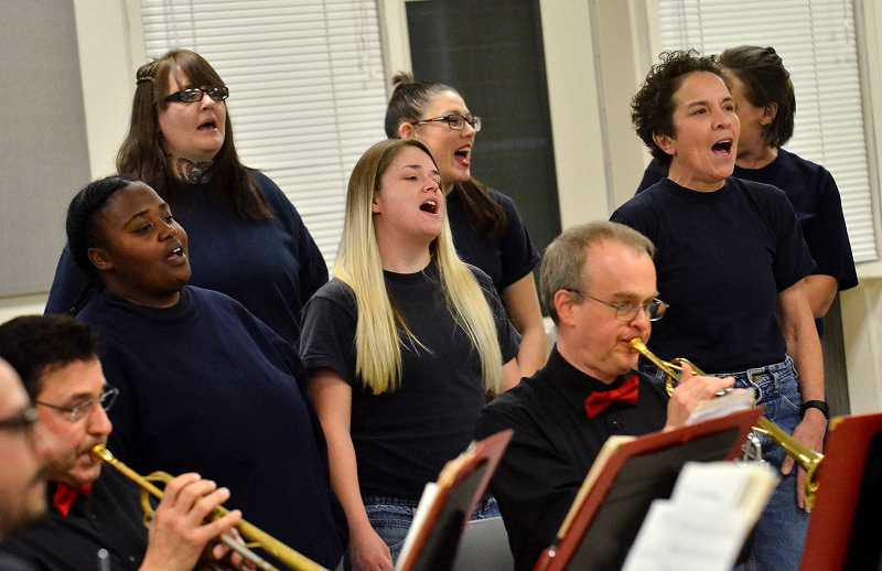 SPOKESMAN PHOTO: VERN UYETAKE - Intergenerational Outreach Choir is just starting its efforts to build a network of choirs accepting women released from prison as a safe and social environment.